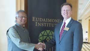 Nobel Peace Prize Laureate, Dr. Muhammad Yunus with Dr. James Otteson,