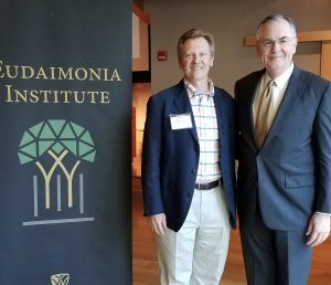 Dr. Otteson with Wake Forest University President, Nathan Hatch, Eudaimonia Conference, April 2017